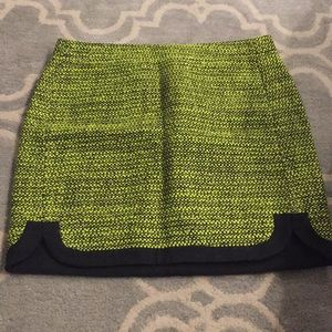 J crew skirt in Lime